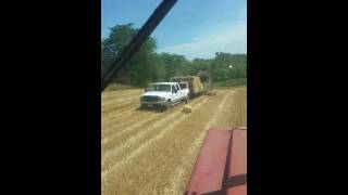 John Deere bale loader small square straw bales