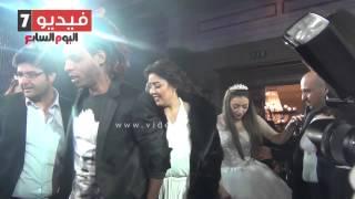 بالفيديو.. أول ظهور لـ مى كساب و أوكا فى حفل زفاف توما