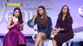 UNCUT- Deepika Padukone, Soha Ali Khan and Neha Dhupia Grace Gillette Venus Event | SpotboyE