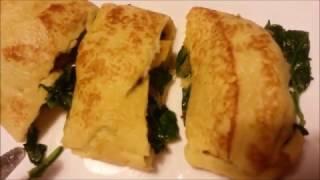 Ispanaklı Dürüm Krep Tarifi / Kolay ve Pratik Yemekler