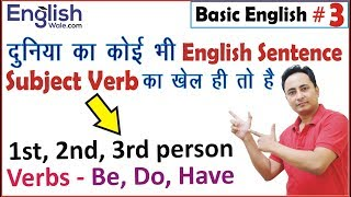 1st 2nd 3rd Person Subject के साथ कौन सी Verb {BE, DO, HAVE} लगेगी