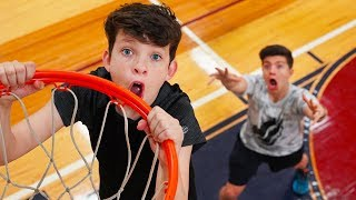 $1000 Basketball Challenge vs My 13 Year Old Little Brother!