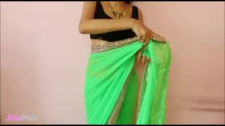 How To Wrap Saree & Look Hot,Simple Designer Sari Wearing Method