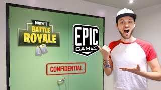 Ali-A VISITS EPIC GAMES! (+ NEW Fortnite: Battle Royale *SECRET* REVEALED)