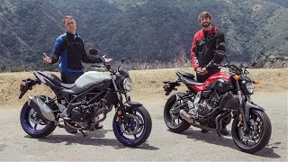 2017 Suzuki SV650 vs Yamaha FZ-07 | On Two Wheels