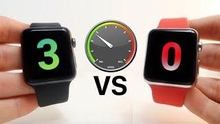 Apple Watch Series 0 vs Series 3 Speed Test!