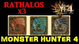Monster Hunter 4: Rathalos threesome. 'Hot!' (with One Piece DLC Nami Baton insect staff in action!)