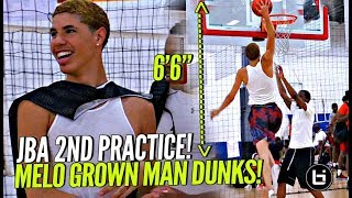 LaMelo Ball Dunking TOO EASY at 2nd JBA Practice!! LEGIT 6