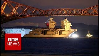 Tight squeeze for new aircraft carrier - BBC News