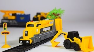 construction train for children - jcb - train videos - jcb toys - toy train - Train for kids
