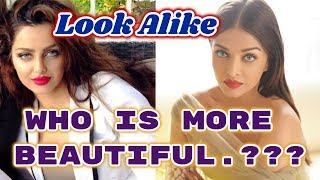 Iranian Model Mahlagha Jaberi  Look Alike  Indian Model Aishwarya Rai || Who is more Beautiful