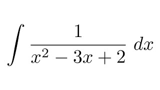 Integral of 1/(x^2-3x+2) (partial fraction decomposition)