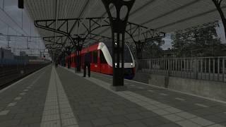Virtueel Treinspotten - Twentse Lint 41 vertrekt van station Almelo
