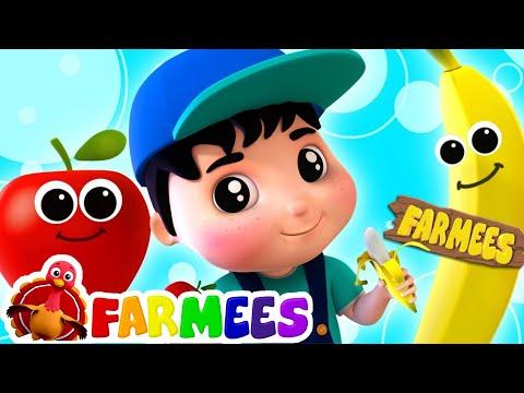 Apples And Bananas Kindergarten Nursery Rhymes Songs For Kids Cartoons by Farmees
