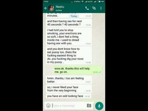 Leaked whatsapp chat of a cheating girlfriend !