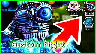 FNAF Sister location CUSTOM NIGHT & SECRET ENDING 2?! - Five Nights at Freddy's Sister Location