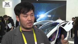 CES 2016: Ehang 184 Working -First Passenger Drone In The World