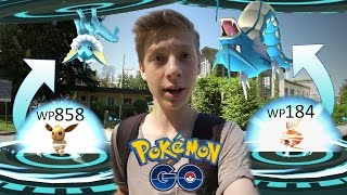 Karpador und Evoli entwickeln - Garados + Aquana & Simsala fangen • Pokemon Go deutsch
