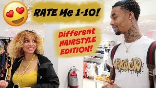 ASKING PRETTY GIRLS TO RATE ME 1-10 PUBLIC INTERVIEW #2 (NEW HAIRSTYLE, NO EDGE UP!)