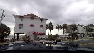 Driving through Hurricane Micheal Devastation Area, Mexico Beach, Fl, December 2018