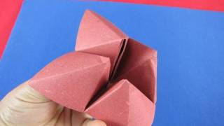 Origami gioco  inferno e paradiso How to Make a Paper Fortune Teller