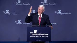 Vice President-elect Mike Pence on Trump Administration Priorities | The Heritage Foundation