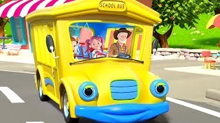 Wheels On The Bus | Kindergarten Nursery Rhymes For Children | Cartoon Songs By Little Treehouse