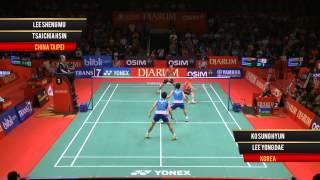 K.Sung Hyun/L. Yong Dae (KOREA) VS L.Sheng Mu/T.CHia Hsin (CHINA TAIPEI) Djarum Indonesia Open 2013