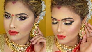 Karvachauth & Durga Puja Makeup & Hair|GRWM|2016| MakeupByAzmeree