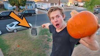 IMPOSSIBLE PUMPKIN TRICK SHOTS!