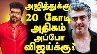 அஜித்துக்கு 20கோடி அதிகம், அப்போ விஜய்க்கு? | Ajith's Vivegam Vijay's Thalapathy 61 Tamilnadu Rights