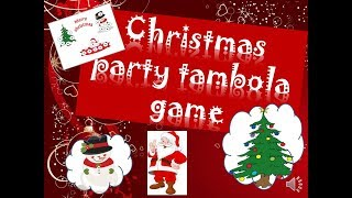 2017 Christmas celebration lucky tambola games for Christmas party,New Year party Bingo games