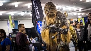 Adam Savage Incognito as Chewbacca with C-3PO!