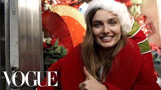 Model Andreea Diaconu Plays Santa on the Streets of New York | Vogue
