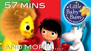 The Lion and the Unicorn | Plus Lots More Nursery Rhymes | 57 Mins Compilation from LittleBabyBum!