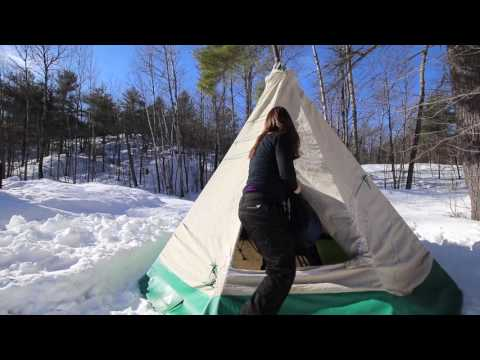 Xxx Mp4 Homemade Hot Tent Tipi For Winter Camping By Camper Christina 3gp Sex