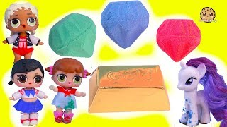 Surprise Dig  For Gemstones & Gold with My Little Pony + LOL Kids - Cookie Swirl C Video