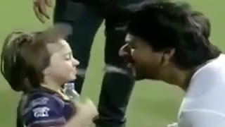 Shahrukh Khan And AbRam Naughty Moments In IPL 2016