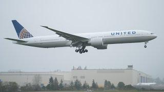 Goaround - United First 777-300ER First Flight @ Paine Field