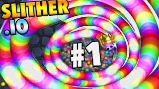 貪食蛇 Slither.io #5 Snake Commits Suicide In Slitherio Epic New Skin! (Slitherio Best Moments)