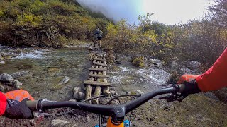 That bridge is totally rideable! (No, it's not) | Mountain Biking Tibet Part 8