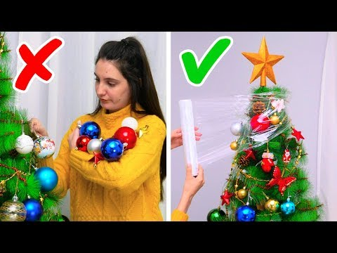 Xxx Mp4 23 GENIUS CHRISTMAS TREE HACKS 3gp Sex