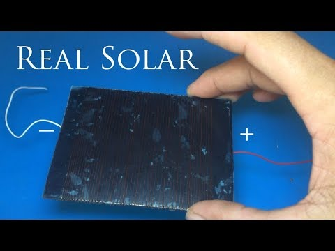 Free energy Solar energy How to make solar cell step by step