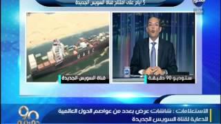 شردى : شاشات عرض بعواصم العالم لمتابعة البث المباشر ليوم افتتاح قناة السويس