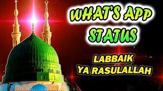 Naat Status   Labbaik Ya Rasoolallah,Har Desh Main Goonje ga   Naat Whatsapp Status