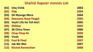 Shahid Kapoor Movies List