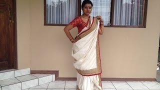 Bairi piya saree drape from Devdas