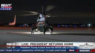 WATCH: President Trump and First Lady Melania Return Home After Rally in Ohio (FNN)