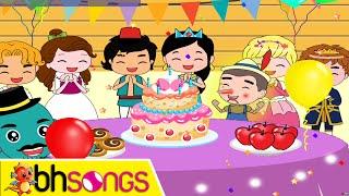 Happy Birthday song lyrics vocal | Fairytale Style | Nursery Rhymes | Ultra HD 4K Music Video
