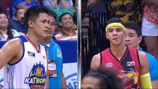 Arwind Santos and Jericho Cruz clash on the court | PBA Philippine Cup 2018